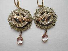 Vintage Rhinestone Chandelier Earrings by urbanaccessories4u