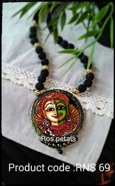 Terracotta hand painted Kerala mural jewellery from Ros petals