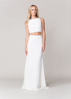 Loving this two-piece wedding look.