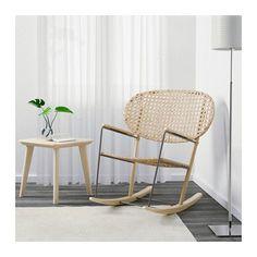 GRÖNADAL Rocking chair, gray, natural gray/natural