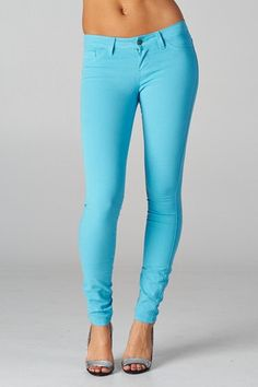 color skinny jean. Definitely want these