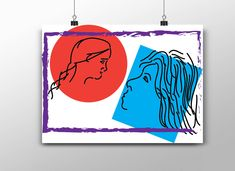 Handmade Items, Handmade Gifts, Marketing And Advertising, Kiss, Daughter, Etsy Shop, Portrait, Bedroom, Red