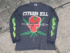 Vintage Cypress HillLong Sleeve Weed Skull Big by 90sTransporter