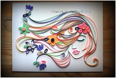"""The art is """"Quilling"""" This piece is Spring Love! Pretty Cool"""