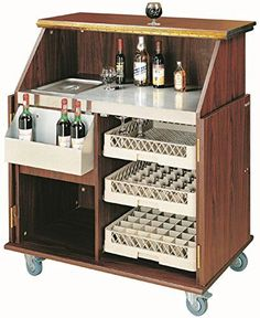 elegante Hausbar - Mobile Bar Theke Bartheke Holz Barschr... http://amzn.to/2BmVxSK
