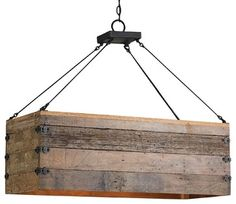 Wood Crate Chandelier traditional chandeliers
