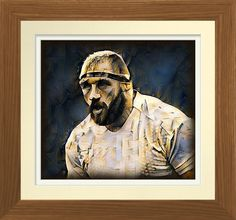Rugby Prop - Rugby Art On Canvas Print. Original rugby art by Roger Smith. Reproduced on gloss premium canvas. One for the keen rugby follower http://www.zazzle.com/rugby_prop_rugby_art_on_canvas_print-228315999313468073 #rugby #art #print