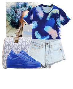 """"""""""" by awesomeblossom23 ❤ liked on Polyvore featuring Sonix, Michael Kors, WithChic and adidas Originals"""
