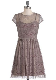Fleet Collection, One Amour Evening Dress Modcloth, NWT size XL gray lace #FleetCollection