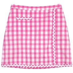 Pre-owned Lilly Pulitzer Pink Gingham Cotton Blend Faux Wrap Skirt Gingham Skirt, Pink Gingham, Cute Skirts, Mini Skirts, Wrap Skirts, Short Skirts, Faux Leather Skirt, Leather Skirts, Polyvore Outfits