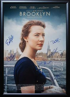 Brooklyn - Signed Movie Poster in Wood Frame with COA