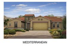The Whistler ~ more than 3,200 square feet and offering 4 bedrooms. Here shown in the Mediterranean elevation.