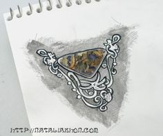 Jewelry Designer Blog. Jewelry by Natalia Khon: Triangle plume agate for a unique pendant