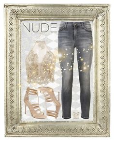 """nude"" by summer-marin ❤ liked on Polyvore featuring Current/Elliott and Chinese Laundry"