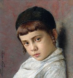 Isidor Kaufmann | Portrait of a Young Boy with Peyot,