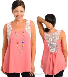 Here's an easy T-shirt refashion into a cool summer tank top. Casual Plus Fashion trendy tops for Junior Plus size, lady plus size shirt, dresses, bottoms Diy Fashion, Trendy Fashion, Plus Size Fashion, Pretty Outfits, Cute Outfits, Diy Clothes, Clothes For Women, Making Clothes, Plus Size Sewing
