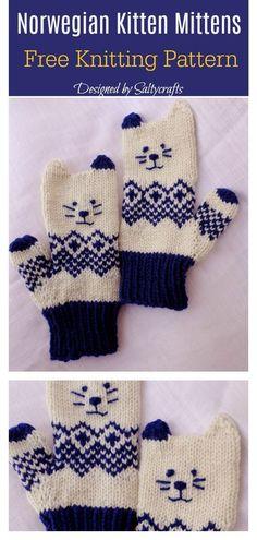 Kitten Mittens Free Knitting Pattern – The Best Ideas Knitting Blogs, Knitting Patterns Free, Knitting Yarn, Free Knitting, Knitting Projects, Baby Knitting, Finger Knitting, Scarf Patterns, Knitting Tutorials