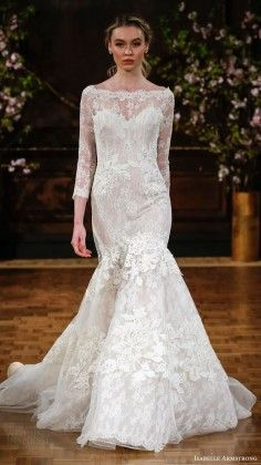 ISABELLE ARMSTRONG bridal spring 2017 illusion long sleeves bateau neck  mermaid lace wedding dress Tenue, 3e62c67d0ef