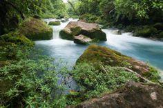 El rio Celeste, es un río de #CostaRica que se encuentra dentro del Parque Nacional Volcán Tenorio. Una leyenda local narra que las aguas del río Celeste tienen ese color porque, cuando Dios terminó de pintar el cielo, lavó los pinceles en el agua de este río. #OjalaEstuvierasAqui #BestDay