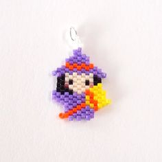 Halloween Witch Charm Cute Jewelry Pendant Delica by BeadCrumbs