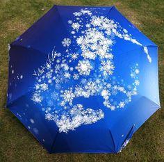 2016 New Novelty Items Snow Painting Arts Umbrella Rain women Creative Paraguas Anti-UV Fashion Parasol Kids