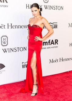 Adriana Lima's amfAR Gala Dress Looks Very Different From the Back