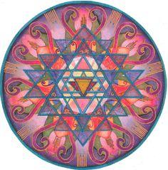 Awareness Mandala by Jo Thomas Blaine