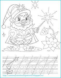 Creionasul cel istet si prietenii: Spiridusul - desenam dupa contur Tracing Worksheets, Preschool Worksheets, Color Activities, First Grade, Handwriting, My Boys, Hand Embroidery, Coloring Pages, Kindergarten