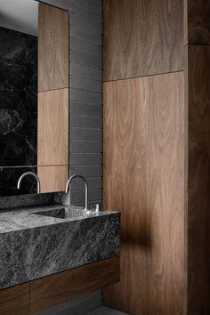 Bathroom Furniture : Australian Interior Design Awards -Read More – Luxury Master Bathrooms, Modern Master Bathroom, Modern Bathroom Design, Bathroom Interior Design, Home Interior, Small Bathroom, Interior Decorating, Bathroom Ideas, Bathroom Faucets