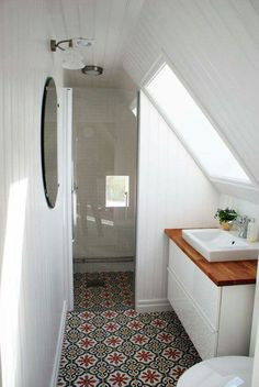 Love the tile! Love the layout!