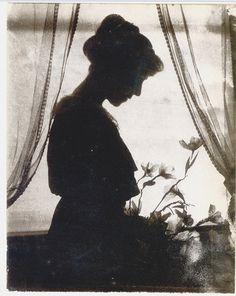 "Gertrude Käsebier, ""Silhouette"", c. 1915, Gum Bichromate Print, Worcester Art Museum Collection, Sarah C. Garver Fund. by amwestphoto, via Flickr"