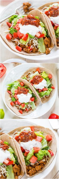 Healthy Beefy Tacos (vegan) - Just like the real thing but a million times healthier! So good, hearty and taste JUST like the real deal!