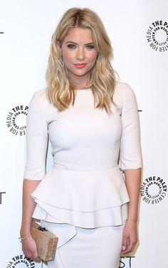 Ashley Benson's hair - love the blond, blunt cut, soft layers, length