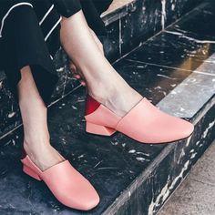 Chiko Shahina Fur Lined Pointy Toe Mules