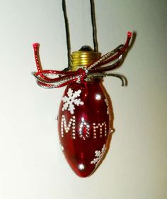 Bulb Ornament - family ornament is great!  I Love this!  gotta make some!