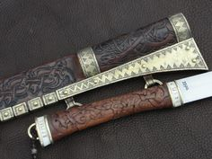 Viveka's War Knife - handle & sheath details