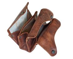 Atitlan Leather Leather Carryall Travel Wallet - perfect for small accessories coins cash and cards