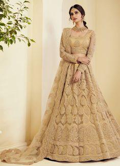 Lehenga Choli Latest, Lehenga Choli Online, Bridal Lehenga Choli, Indian Lehenga, Silk Lehenga, Choli Dress, Lehenga Blouse, Pakistani, Beige Wedding