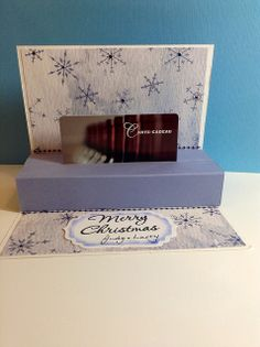 Pop up gift card holders
