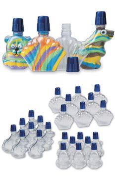 Containers 12 Pieces Sports Sand Art Bottles Craft Supplies Sand Art Fun Express