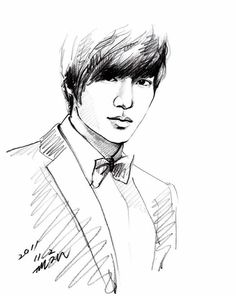 Photo by luvminho_hyesun Boys Before Flowers, Boys Over Flowers, Lee Min Ho Dramas, Lion King Drawings, Korean Drama Funny, Cute Girl Drawing, Kpop Drawings, Face Sketch, Celebrity Drawings