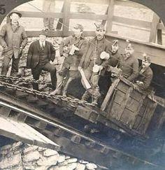 Coal miners in Hazleton PA, USA, 1900