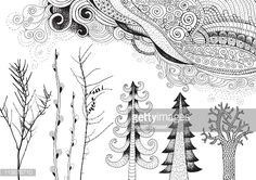 Image result for nature doodles
