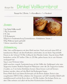 Rezept für Dinkel-Vollkornbrot Healthy Recipes, Yummy Recipes, Baked Potato, Clean Eating, Potatoes, Yummy Food, Baking, Ethnic Recipes, Fitness