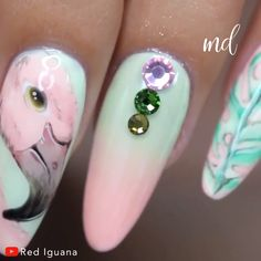 Youre going to love these manicure ideas! Nail Art Blog, Nail Art Videos, Love Nails, Pretty Nails, Manicures, Gel Nails, Flower Nail Art, Gel Nail Designs, Rhinestone Nails
