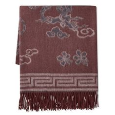 Williams Sonoma Novelty Patterned Jacquard Cashmere Throw, Tiger, Port #williamssonoma