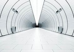 Tunnel of white light find by Otaku Gangsta #tunnel #white #minimal
