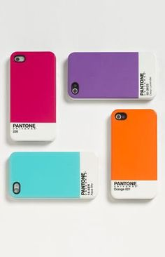 I'll take one in each color, please! (PANTONE iPhone cases)
