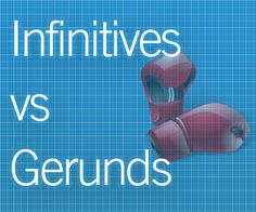 Students often have a difficult time knowing when to use gerunds and infinitives. Even at the intermediate level, this is typically not covered extensively and lesson plans instead focus on Grammar Games, Grammar And Punctuation, Teaching Grammar, Teaching English, Teaching Resources, Teaching Ideas, English Fun, English Grammar, Learn English