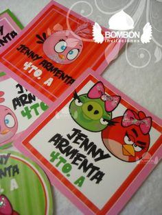 #Angry #brds #girl #girls ¡Todos listos con sus personajes favoritos en los útiles escolares! https://www.facebook.com/invitaciones.bombon